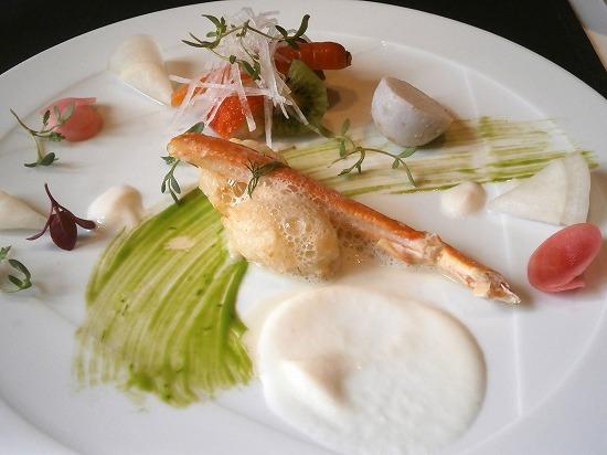 こだわり冬野菜のリゾットとズワイ蟹