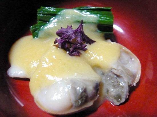 貝のヌタ、からし酢味噌が絶妙のお味。