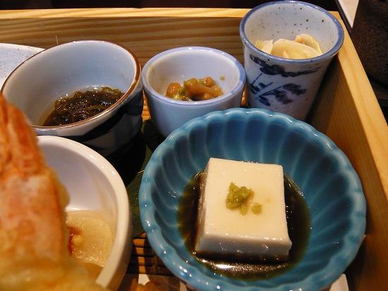 卵豆腐、小鉢