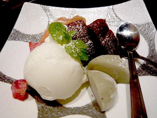 こちらはプラス150円のデザート。 アイスクリームが付いています。