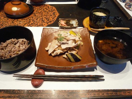 選べる味噌漬け焼の豚のソテーです。