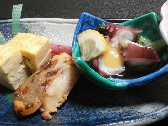 酢だこ、焼き魚、出し巻き卵