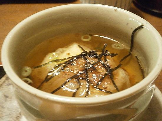 揚げ出し豆腐の煮びたしです。