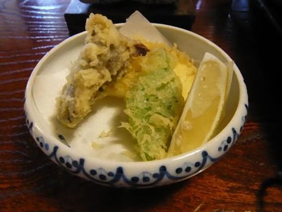 天ぷらにもしいたけが・・・