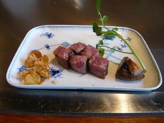 広島産和牛のステーキです。