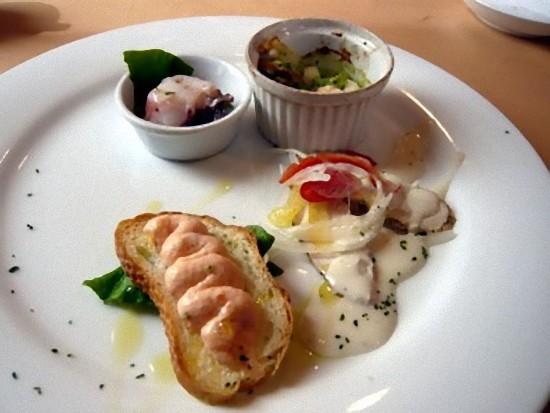 「ロマーノランチ」の前菜です。 前菜かスープが選べます。