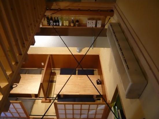 1階席を見下ろしたところです。