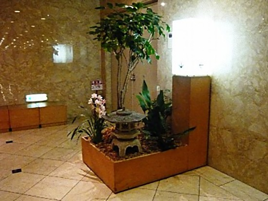 地下1階の「和食堂 鞆の浦」の奥座敷の入口です。