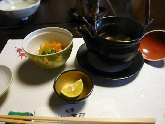 「竹コース」の松茸の土瓶蒸しです。