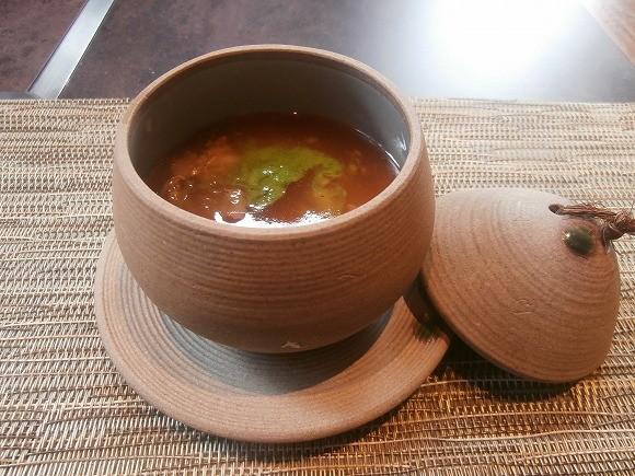 根菜の茶碗蒸し コラーゲンスープのみぞれ餡