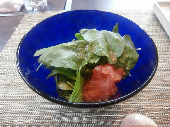 長野クレソンとフルーツトマトのサラダ