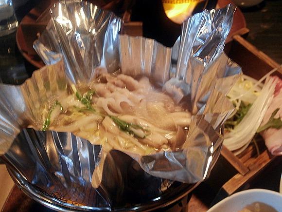 イベリコ豚のしゃぶしゃぶ鍋