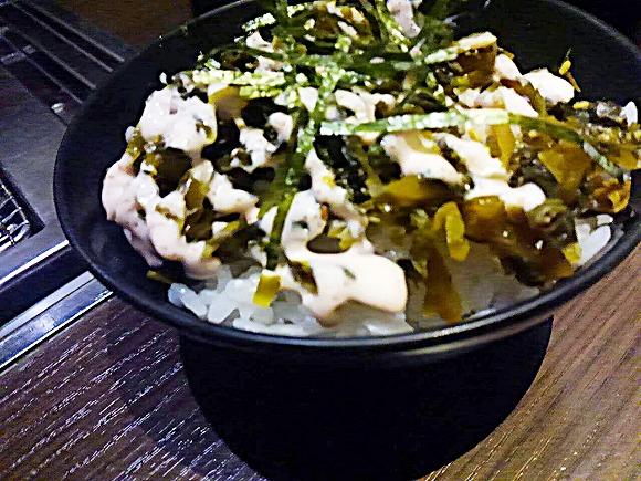 高菜の明太マヨ丼