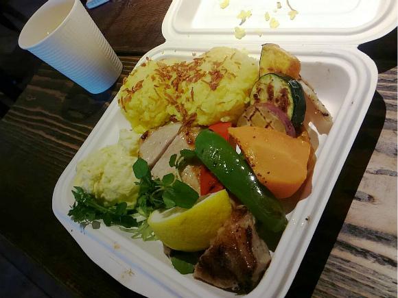 ポークチョップとグリル野菜BOX with カントリーポテトサラダ
