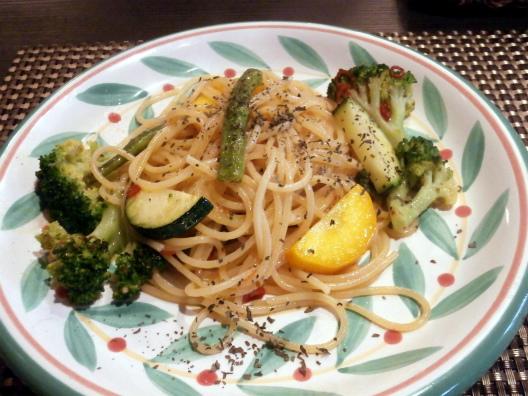 旬野菜のペペロンチーノ