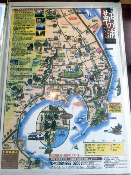 鞆の浦案内図
