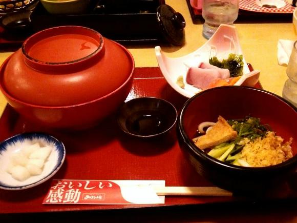 カツ丼刺身定食