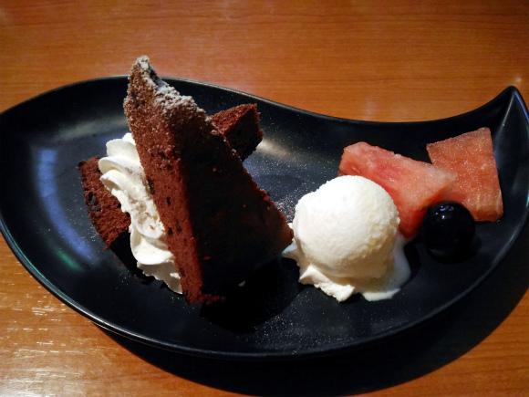 本日のプチケーキと冷菓盛合せ