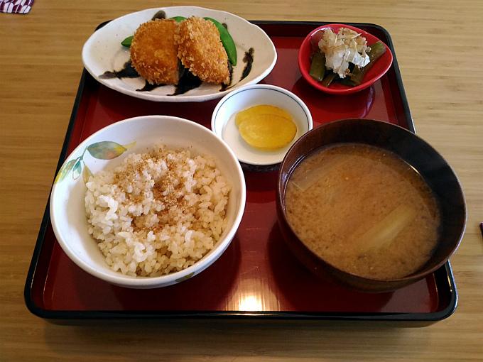 玄米ご飯と本日のおかず