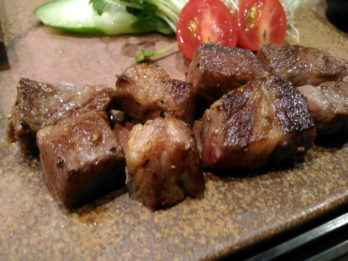 吉備牛サイコロステーキ