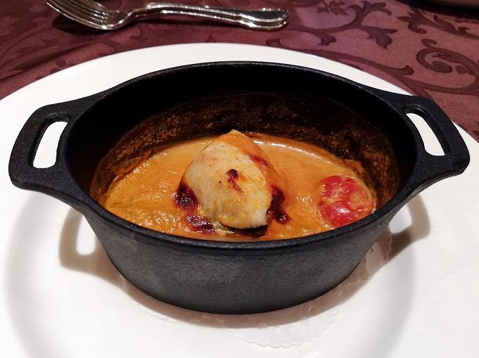 鰆のフリカッセ ビスクスープ仕立て