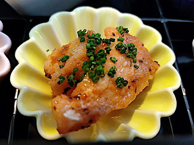 真鯛のエスカベッシュ梅肉ソース