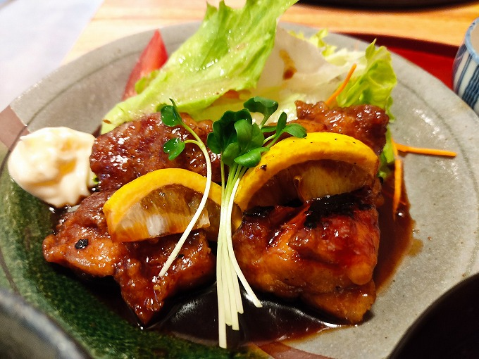 阿波彩鶏のレモン焼